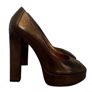 LANVIN Peep toe platform heels, 38.5 EU