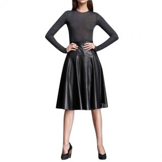 Derek Lam leather and wool dress