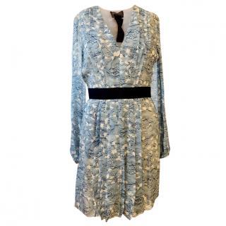 Giambatista Valli Pleated floral-print silk-chiffon dress