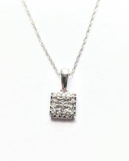 Bespoke 18ct White Gold 0.25ct White Diamond Necklace