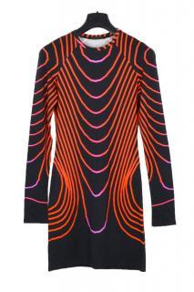 Christopher Kane abstract print bodycon short dress