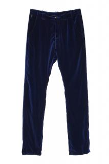 Armani Collezioni navy velour sports trousers