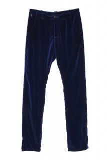 Armani Collezioni navy velour sports trousers