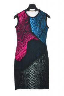 Christopher Kane snakeskin print jersey sleeveless dress