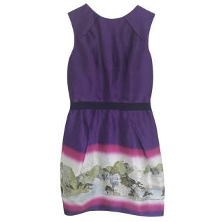 Matthew Williamson Purple Shift dress