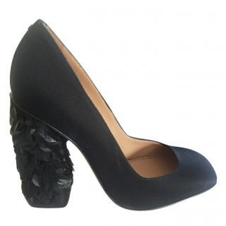 Dsquared black embellished heel pumps