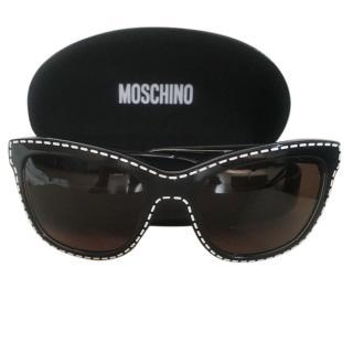 Moschino black and white stitched sunglasses