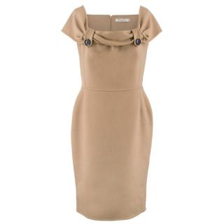 Christian Dior Fitted Cashmere Midi Dress