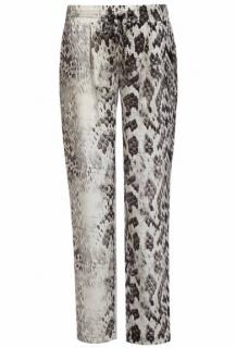 Melissa Odabash 'Jude' Python Print Silk Trousers
