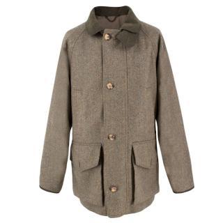 Holland & Holland Green Wool Tweed Jacket