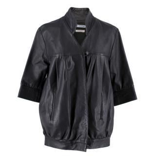 Osman Yousefzada Black Leather Jacket
