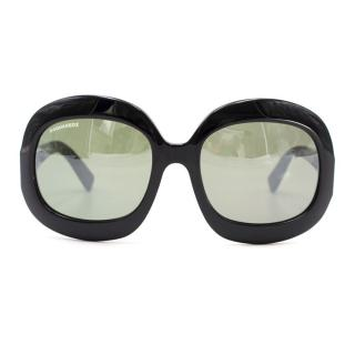 Dsquared Oversized Tortoiseshell Sunglasses