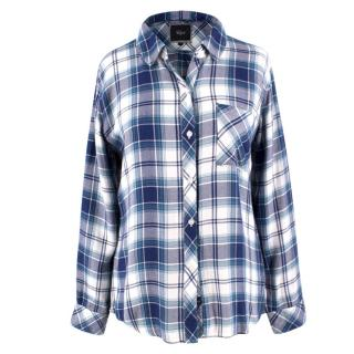 Rails Blue Hunter Tartan Shirt