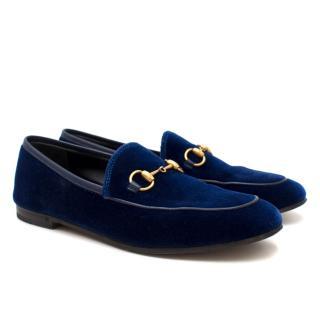 a6a523b0584 Gucci Jordaan Velvet Loafers