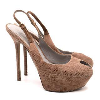 Sergio Rossi Peeptoe Platform Sandals