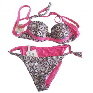 La Perla Printed Pink & Grey Bikini