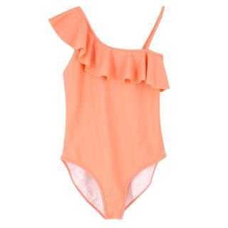 Chloe Girl's Coral Ruffled Swimsuit
