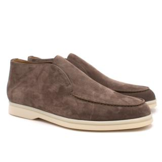 Loro Piana Brown Suede Loafers