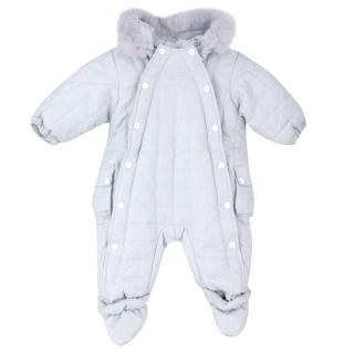 Baby Dior Hooded Puffer Snowsuit
