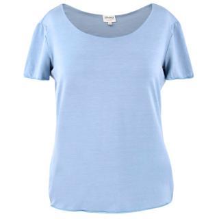 Armani Light Blue Round Neck T-Shirt