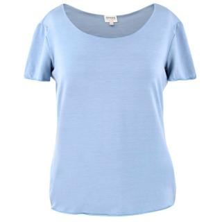 Armani Light Blue Round Neck T-Shirt