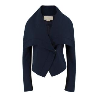 Antonio Berardi Navy Wool Asymmetric Jacket
