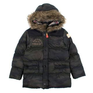 Scotch & Soda Army Print Quilted Boys Jacket