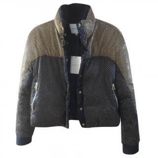 Pierre Balmain Black & Gold Silk Bomber Jacket