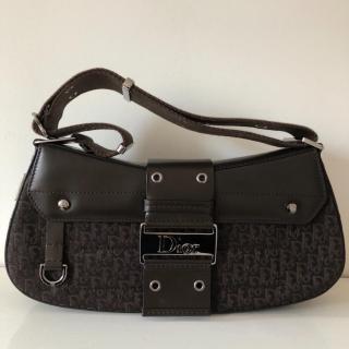Christian Dior Brown Monogram Shoulder Bag