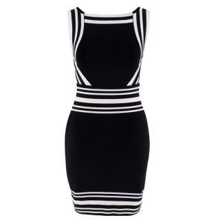 Balmain Black and White Fitted Mini dress