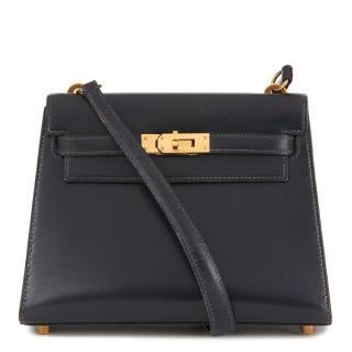 7a9cf0f37af6 Hermes Kelly Mini Leather Bag