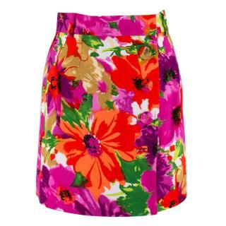 Balenciaga Floral Mini Wrap Skirt