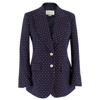 Gucci Navy Patterned Blazer