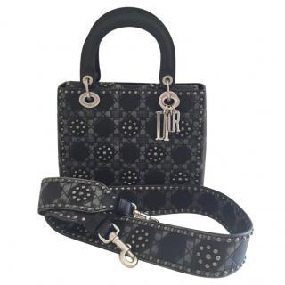 Dior Cruise Collection Black Studded Calfskin Lady Dior Bag