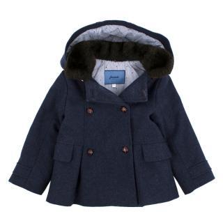 Jacadi Navy Wool Girl's Jacket