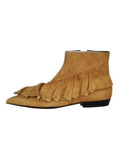 J.W. Anderson suede ruffle boots