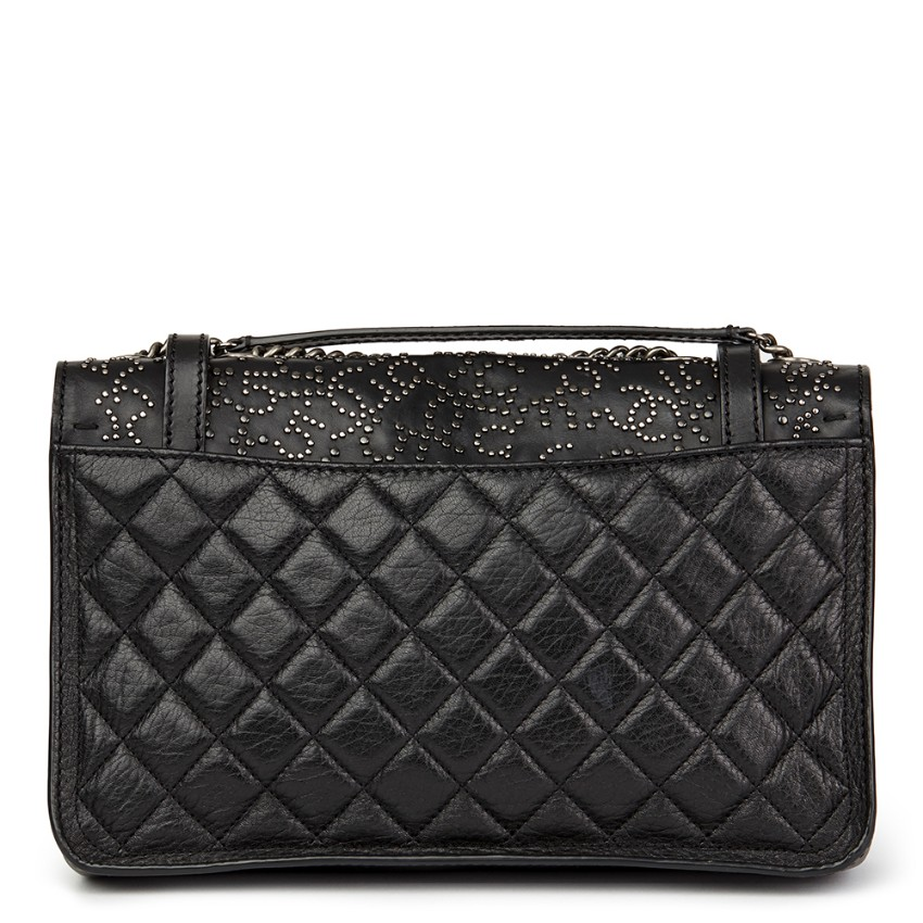 59bff8a94be8 Chanel Black Studded Calfskin Paris-Dallas Studded Buckle Flap Bag. 27.  12345678910