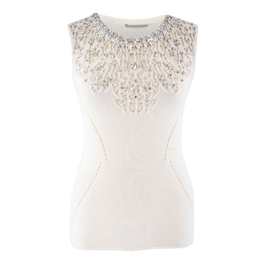 Ermanno Scervino Embellished Knit Top