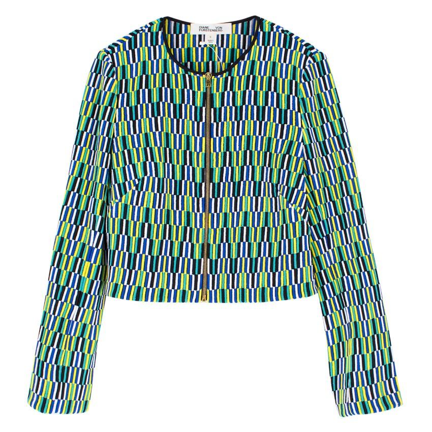 Diane von Furstenberg Embroidered Silk Jacket