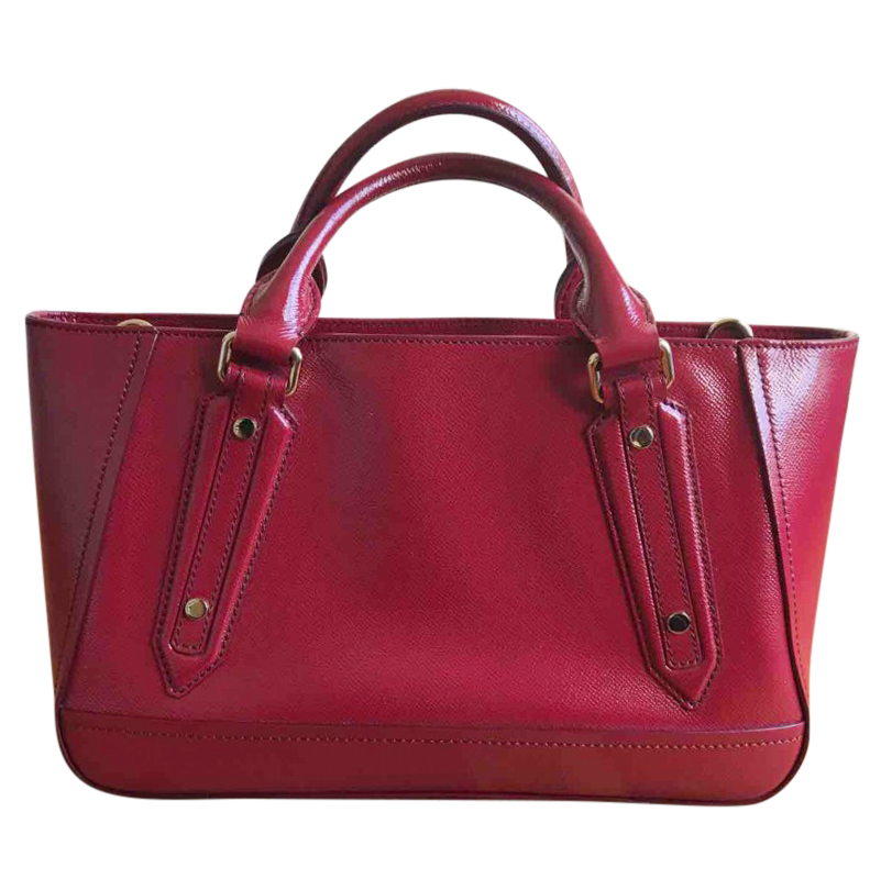 Burberry Red Patent Leather Tote Bag  c71c474e01ec0