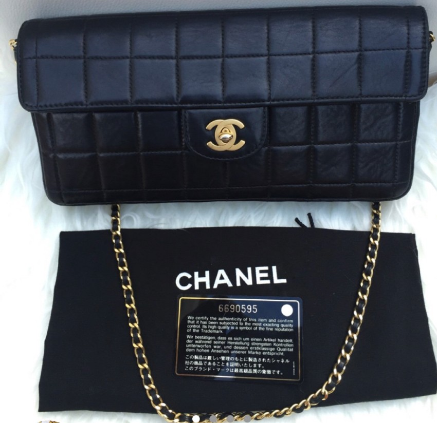 6b6afb2020ec Chanel Quilted Lambskin East West Black Bar Flap Bag | HEWI London