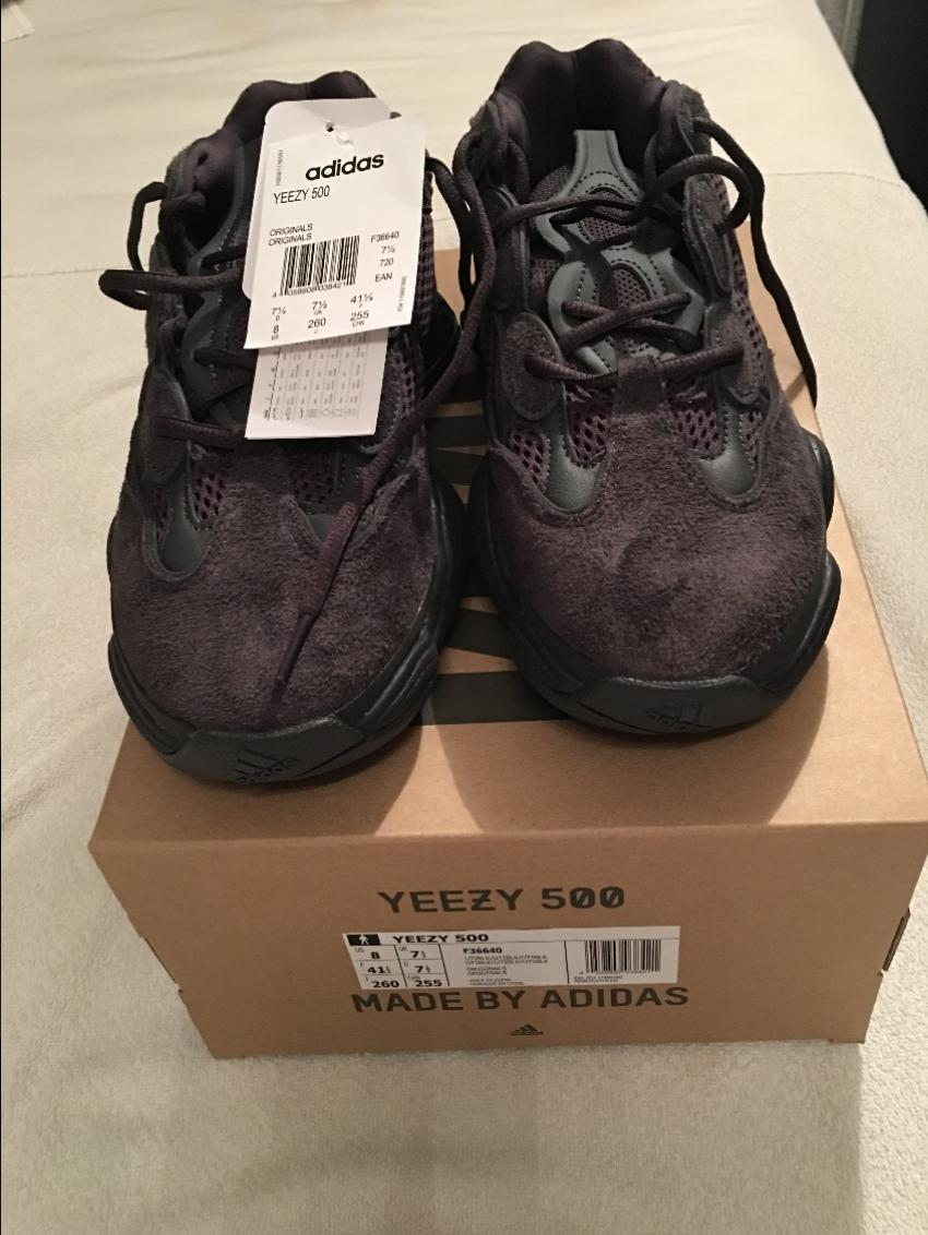 huge selection of e1a33 a23cd Adidas Yeezy 500 Utility Black Trainers