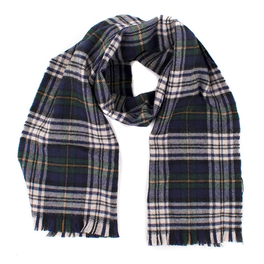 Saint Laurent Wool Checked Scarf