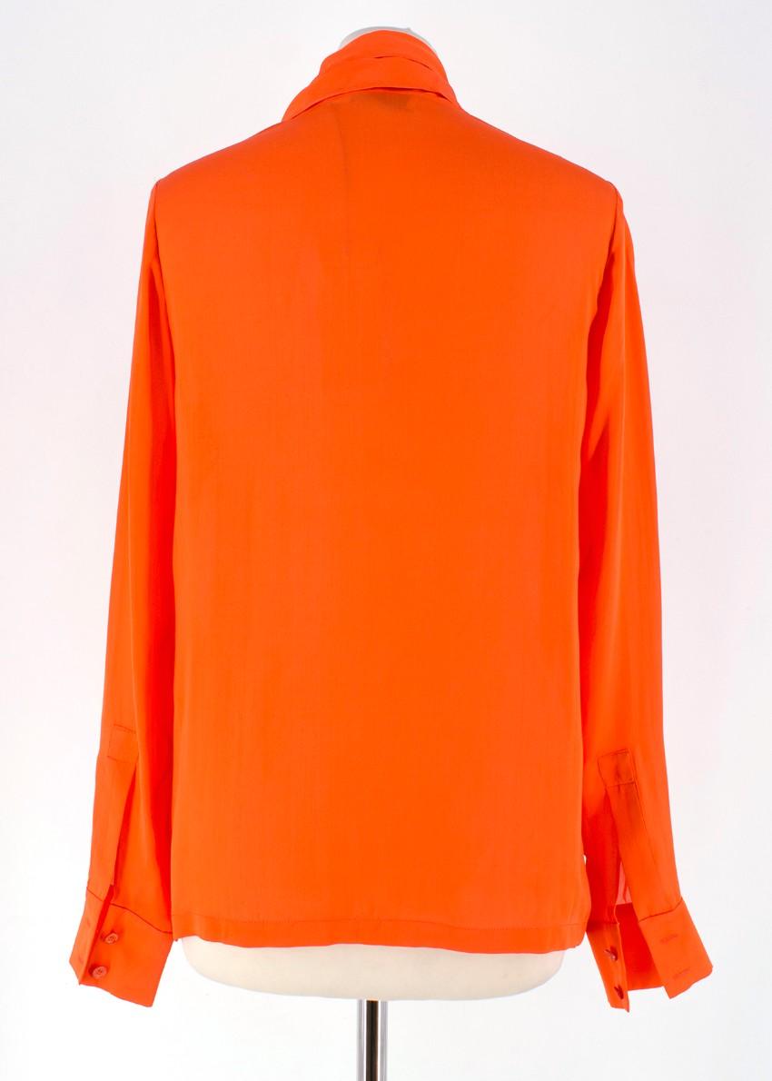 15a81c95313f5 Stella McCartney Orange Silk Blouse. 27. 12345678