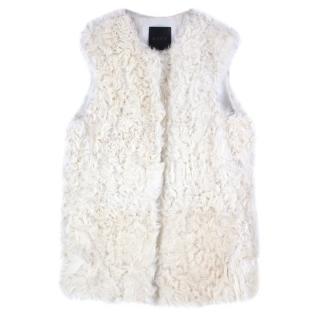 Ravn White Lamb Shearling Vest