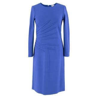Armani Blue Pleated Dress