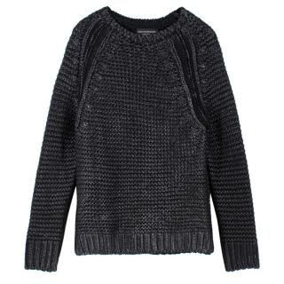 Zadig & Voltaire Black Coated Jumper