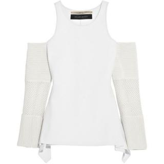 Roland Mouret Kynance cutout stretch-knit top