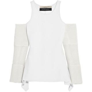 Roland Mouret Kynance cutout stretch-knit top