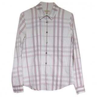 Burberry Plaid Button Up Shirt